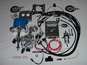 Efi Ford Fuel Injection System Complete Tbi for Stock Small Block Ford 351 5 8l