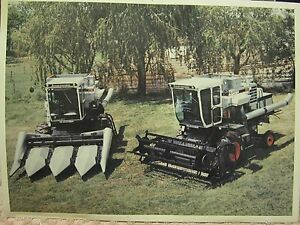 Vintage Gleaner F2 K2 Combine 8 X 11 Real Color Photograph Picture