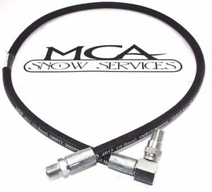 Meyer Snow Plow Angle Hose 1 4 X 45 W 90 Degree Swivel End 21856