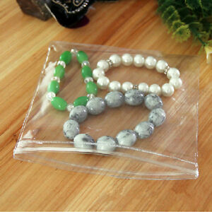 Pvc Jewelry Anti oxidation Bag Plastic Clear Zip Lock Jade Pearl Packaging Pouch