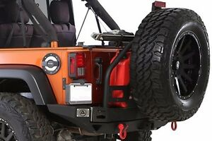 Smittybilt 76896 Xrc Atlas Rear Bumper Tire Carrier Fits Jeep Wrangler Jk 07 17