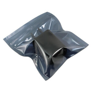 Esd Anti static Shielding For Zip Bag Plastic Antistatic Lock Pouch Electronics