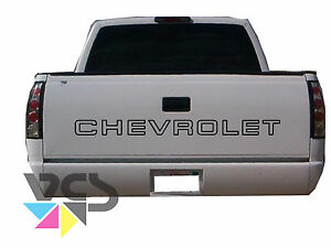 Chevy Tailgate Letter Decal Sticker For Trucks 90 98 Black