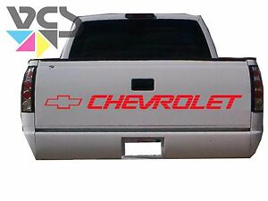 Chevy Tailgate Letter Decal Sticker Trucks Custom Made Red Red Bowtie Logo