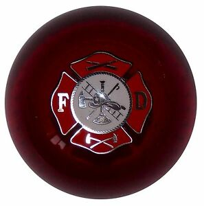 Fire Department Clear Red Shift Knob M16x1 50 Fits Camaro Trans Am Firebird