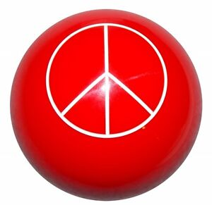 Red Peace Shift Knob M16x1 50 Fits Camaro Trans Am Firebird