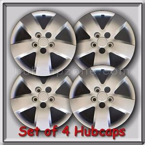 4 16 Silver Bolt On Nissan Altima Hubcaps Fits 2007 2008 Altima Wheel Covers