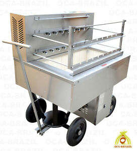 Brazilian Charcoal Grill For Bbq 15 Skewers Catering Professional Grade