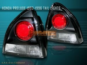 1992 1996 Honda Prelude Altezza Tail Lights Coupe 2 Door Jdm Black