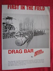 Vintage 1976 Year a round Disk Field Cultivator Drag Bar Brochure