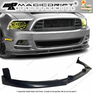 13 14 Ford Mustang V6 Base Gt500 Style Urethane Front Bumper Chin Lip Spoiler