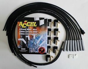 Accel Extreme Heat Universal Black Spark Plug Wires Big Block Chevy Ford Points