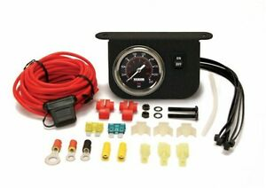 Viair 220 Psi Single Needle Black Face Gauge Panel With On Off Switch Air Ride