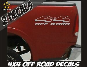 4x4 Offroad Truck Bed Decal Set Metallic Silver For Ford F 150 Super Duty Ranger