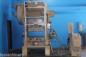 60 Ton Minster Punch Press Straight Side Double Crank 3 stroke 0 200spm 36x25bed