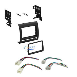 Double Din Car Radio Stereo Dash Kit Harness Combo For 2005 2011 Toyota Tacoma