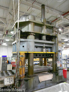 Kr Wilson 4 Post Hydraulic Press 2 000 Ton X 120 X 48 5818