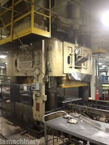 Lake Erie 4 Post Hydraulic Press With Rubber Pad 5 000 Ton X 112 X 48 5968