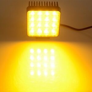 4 5 Inches 48w Led Square Work Light Yellow Fog Lamp Forklift Truck Jeep Offroad