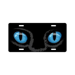 Blue Cat Eyes License Plate Funny Novelty Tag
