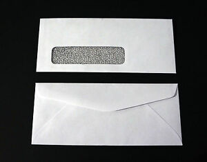 8 24lb White Wove Tinted Check Window 3 X 8 Envelopes Various Quantities