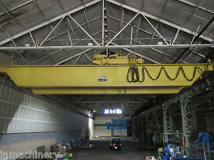 Conco Top Riding Double Girder Overhead Bridge Crane 45 Ton X 56 8 6417p