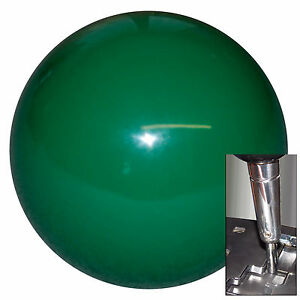 Solid Green Shift Knob For Dodge Chrys Jeep Auto Stick W Adapter