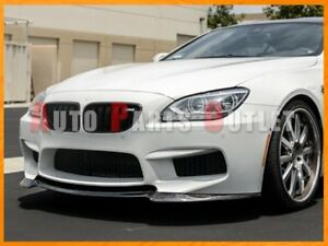 V Type Carbon Fiber Front Bumper Add On Lip For 12 18 Bmw F06 F12 F13 M6 Only
