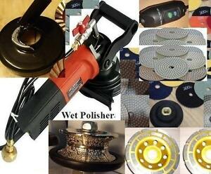 Wet Dry Dust Free Polisher V40 Router Bit Concrete Stone 15 Pad 2 Cup Wheel