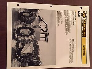 Cat Caterpillar 528b 528 Cable Skidder Grapple Brochure Original Antique