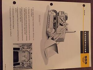 Cat Caterpillar 955 Crawler Loader Brochure Original Antique Track