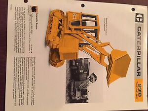 Cat Caterpillar 931b 931 Crawler Loader Brochure Original Antique Track