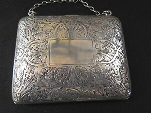 Vintage Sterling Silver Chased Purse