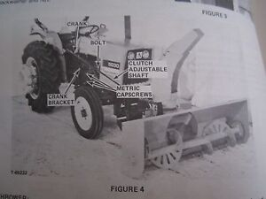 1978 Allis Chalmers Mod 64 Snow Thrower For 5020 5030 Tractor Operators Manual