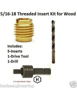 E z Lok 5 16 18 Threaded Insert Installation Kit For Wood E z Lok P n Ez 400 5