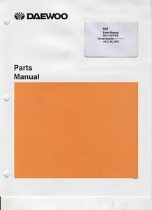 Daewoo Mini Excavator Parts Manual S55