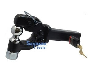 5 Tons Trailer Hitch Pintle Hook Combo 2 Ball And Ball Mount Combo 5 8 Lock