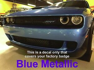 2015 2017 Dodge Challenger Charger Hellcat Srt Front Grill Badge Vinyl Overlay