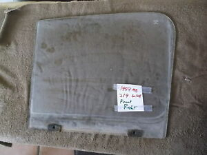 Mercedes Benz Ponton Front Right Left Window Glass W120 W105 W121 W180