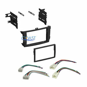 Stereo Single Double Din Dash Kit W Harness Combo For 2009 2011 Toyota Corolla