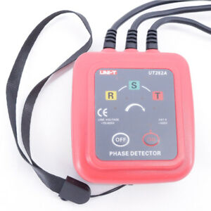 Non contact 3 Phase Detector Ut262a Sequence Rotation Indicator Meter Tester Led