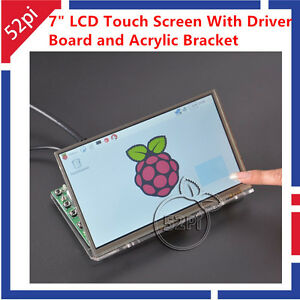 7 Inch 1024 600 Lcd Touch Screen Display With Acrylic Bracket For Raspberry Pi 4