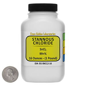 Stannous Chloride sncl2 99 Acs Grade Powder 1 Lb In A Space saver Bottle Usa