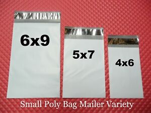 100 Poly Bag Mailer Variety Pack 3 Small Sizes Self sealing Shipping Envelopes