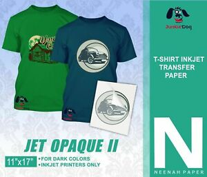 Neenah Jet Opaque Ii 11 X 17 Inkjet Dark Transfer Paper Dark Colors 55 Sheets