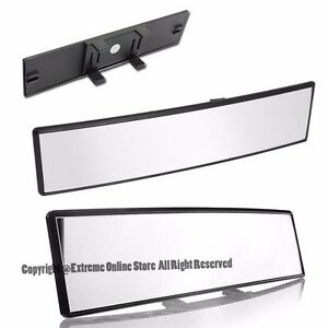 Universal 300mm 11 8 Convex Clear Interior Jdm Clip On Style Rear View Mirror