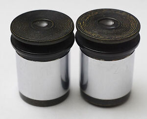 Pair 10x Ao Spencer Focusing Microscope Eyepieces