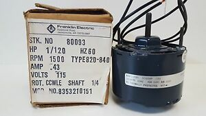 New Packard Franklin Electric Shade Pole Motor 80093 820 840 8353210151