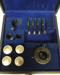 Bausch Lomb Phase Contrast Kit 4 Objectives Condenser And Phase Annuli