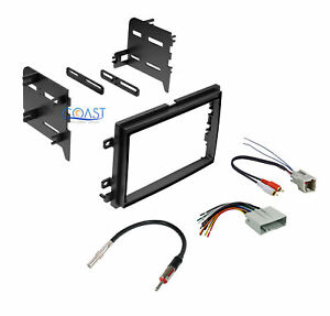 Single Double Din Stereo Dash Kit Harness Antenna For 2004 2011 Ford Mercury